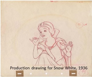 snow white drawing with caption