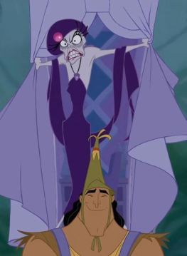 Yzma-Being-Transported-by-Kronk-in-The-Emperors-New-Groove-1200x863